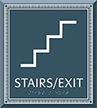 Stairs Exit Azteca Regulatory Sign