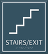 Stairs Exit Contour Regulatory Sign