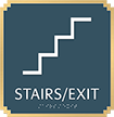 Stairs Exit Marquis Regulatory Sign