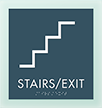 Stairs Exit Metro Regulatory Sign