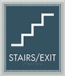 Stairs Exit Optik Regulatory Sign