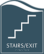 Stairs Exit Pacific Regulatory Sign