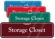 Storage Closet ShowCase Wall Sign