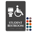 Student Restroom Toilet And ISA Symbol Sign