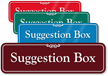 Suggestion Box ShowCase Sign
