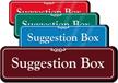Suggestion Box ShowCase Sign