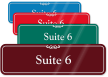 Suite Number 6 ShowCase Wall Sign