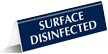 Surface Disinfected OfficePal Tabletop Tent Sign