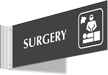 Surgery Corridor Projecting Sign