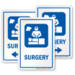 Surgery Hospital Sign with Operating Room Symbol