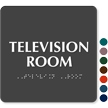 Television Room TactileTouch™ Braille Sign