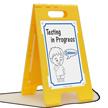 Elementary School Kids FloorBoss XL™ Floor Stand Sign