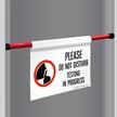 Testing In Progress Door Barricade Sign