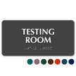 Testing Room Tactile Touch Braille Sign