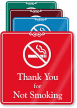 Thank You For Not Smoking ShowCase Wall Sign