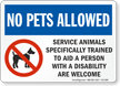 Trained Service Animals Are Welcome Sign