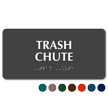 Trash Chute Tactile Touch Braille Sign