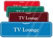 TV Lounge Showcase Hospital Sign