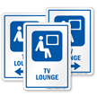 TV Lounge Hospital Sign