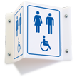 Unisex & Accessible Pictograms Restroom Projecting Sign