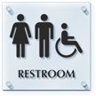 Unisex And Handicap Restroom ClearBoss Sign