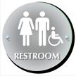Unisex And Handicap Restroom ClearBoss Sign