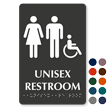 Unisex Handicap Restroom TactileTouch Braille Sign