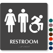 Restroom Braille Sign, Men, Women, New ISA Pictograms