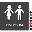 Unisex Restroom Braille Sign