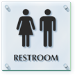Unisex Restroom ClearBoss Sign