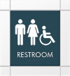 Restroom Sign with Unisex Handicap Accessible