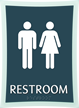 Deco Bathroom Sign, 11.375in. X 8.375in.