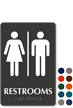 Unisex Restrooms TactileTouch Braille Sign