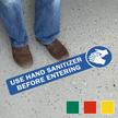 Use Hand Sanitizer Before Entering SlipSafe Floor Sign