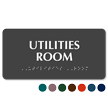 Tactile Touch Braille Utilities Room Sign