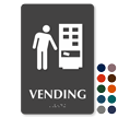 Vending TactileTouch Braille Sign