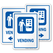 Vending Machine Sign with Symbol