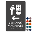 Vending Machines Left Arrow Symbol Sign with Braille