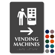 Vending Machines Right Arrow Symbol Sign with Braille