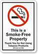 Vermont No Smoking Sign