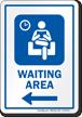 Waiting Area Left Arrow Hospital Sign