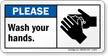 Washing Hands Sign