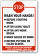 Wash Your Hands Stop Sign