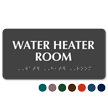 Tactile Touch Braille Water Heater Room Sign