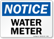 Water Meter OSHA Notice Sign