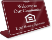 Welcome To Our Community Sign