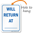 Will Return At Dry Erase Be Back Sign