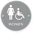 Women And Handicap Restroom ClearBoss Sign