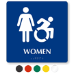 Women Braille Sign, Female And Updated Accessible Pictograms