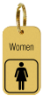 Brass Engraved Women Keychain